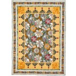 "Balinese Flowers Quilt by Denise Russell of Pieced Brain /46.5""x64-3/4"""