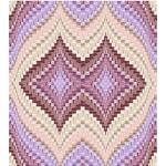"""Strata Bargello Aubergine Quilt by Carl Hentsch of 3dogdesignco  /83-3/4""""x94"""""""