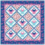 """Baskets of Flowers Quilt by Marsha Moore /60""""x60"""""""