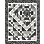 "Down the Rabbit Hole #536 Quilt by Heidi Pridemore /61""x77"""
