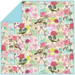 "Belle Rose - MINKY Strip Quilt /58""x58"""