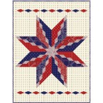 "Big Star Diamond Quilt by Hunter's Design Studio / 52"" x 68"""