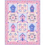 "Tenants Welcome Birdsong Quilt by Marsha Evans Moore - 43-1/2""x55-1/4"" - free pattern available in November"