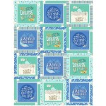 "Block Talk -make a splash Quilt by Swirly Girls / 62""x82"""