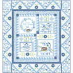 "Blessings Bluebird Quilt by Marsha Evans Moore - Pattern available in November - 54""x58"""