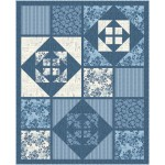 """ripples cubed- blue jean baby by Canuck Quilter Designs  / 55.5""""x68.5"""""""