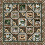 "Cabin in the Woods Quilt by Marsha Evans Moore /68""x68"""