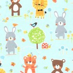 NATURE BABIES on cotton flannel