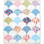 "Chic Shells Quilt - Pieced by Meli Mathis /65""x78"""