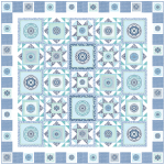 Circle Patch Marine by Heidi Pridemore /75x75""