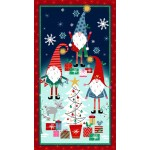 "HOLIDAY GNOMES - 24"" Panel"