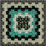 "Cogs in Space Nite Quilt by Lisa Swenson Ruble /52""x52"""