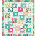 "Chain Reaction Colorful Cottage Quilt by Swirly Girls Design - 60""x66"""