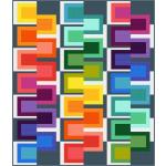 """Mod Box - Cotton Couture Quilt by Colourwerx 72""""x84"""""""