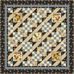 """Country Lanes Quilt by Brenda Plaster - Spool & Bobbin Quilting / 68-1/2"""" x 68-1/2"""""""