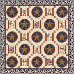 "A New Sherrif in Town Quilt by Natalie Crabtree /52""x52"" - pattern available in November"