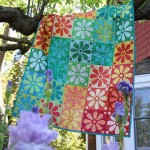 """Fairy Frost Crayon Box Quilt by Heidi Pridemore /40""""x56"""""""