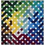 "Criss Cross Quilt by Emily Herrick /60""x60"""