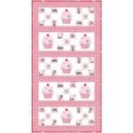 """Cupcake Cutie Runner in Pink by Stephanie Sheridan /22""""x42"""""""