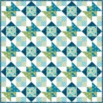 "Diamond in a Square by Swirly Girls Design - 60""x60"" featuring Suzette Collection"