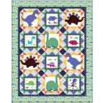 "dino World Quilt by heidi pridemore / 67""x85"""
