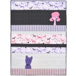 "Dog Walk Thick & Thin Quilt by Wendy Gratz /36""x48"""