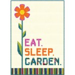 "Eat, Sleep, garden Quilt by Hunter's Design Studio /50""x70"""