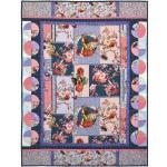 """Elderberry Flower Fairies Collage  Quilt by Marinda Stewart /42""""x55"""