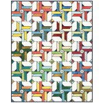 "Fairy Frost Give it a Whirl - Crayon Box Quilt by Sam Hunter of Hunter's Design Studio /64""x80"""