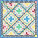 """Shimmering Stars -fairy Frost Quilt by Marsha Evans Moore 63.5""""x63.5"""" -free pattern available in January, 2022"""