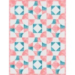 """Monochromality  -fairy Frost Quilt by On Williams Street 56""""x74"""""""