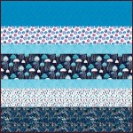 Fanciful Sea Life MINKY Strip Quilt- Free pattern available in October