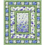"flower boxes blue - floral fantasy by ladeebug design /67""x79"""