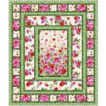 """flower boxes red - floral fantasy by ladeebug design /67""""x79"""""""