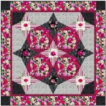 "Floral fantasy Quilt by Stephanie Sheridan /57""x57"""