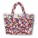 """Scalloped Tote by Christine Poor /16""""x11.5""""x3"""""""