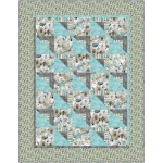"Shady Character Frieze Frame Quilt by Swirly Girls Deisgn - 54""x74"""