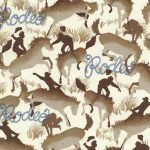 RODEO on cotton flannel