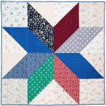 "Giant Vintage Star Quilt by Jani Baker / 68""x68"""