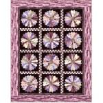"Strata Granite Blooms Aubergine Quilt by Heidi Pridemore /59""x75"""