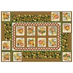 """Making it Work Table Cover Grateful by Penni Domikis for Cabin in the woods Quilters 48""""x68"""""""