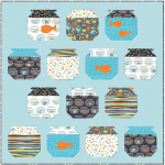 """Guppies for Lunch Quilt by Jessee Maloney /50x50"""""""