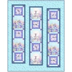 "Haute Couture Blue Quilt by Christine Stainbrook /60""x75"""
