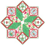 "Hollywood Pixie Tree Skirt by Marsha Moore / 50"" diameter"