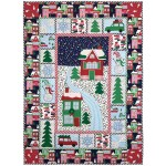 "Home for the Holidays Quilt by Marinda Stewart /40""x55"""