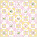 "Hop Along - Pink Quilt by Susan Emory /50""x50"" - Instructions Coming Soon"