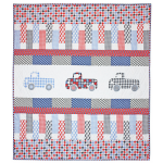 Houndstooth Trucks Quilt by Emily Herrick