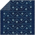 Indigo Road - Minky Strip Quilt /58x58""