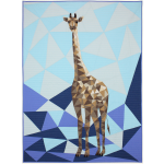 """Jungle Abstractions: The Giraffe - Blue by Violet Craft - 44x60"""""""