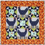 Just us Chickens Quilt by Swirly Girl Design /32x32""